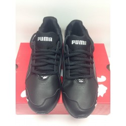 Puma Powertech blaze SL Black Leather sneakers athletic wear -SOLD