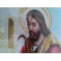 Jesus knocking at the door religious hand made needlepoint tapestry gobelin rare
