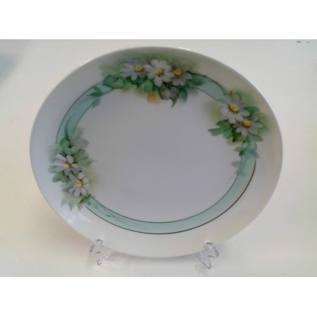 GINORI Floral design collectible vintage plate dish Hand Painted & Signed 7.5/8