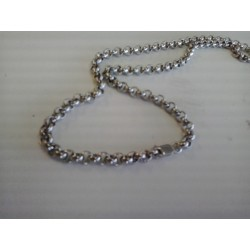 925 sterling silver solid heavy rolo chain necklace 55g 23 inch