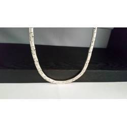 Sterling Silver - HEAVY MEXICO Link Chain Collar - Necklace