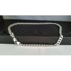 Sterling Silver - HEAVY ITALY Miami Cuban Link Chain 20""
