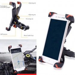 Motorcycle Bicycle MTB Bike Handlebar Mount Holder Universal For Cell Phone GPS