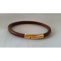 Brown 6 mm Genuine Leather...
