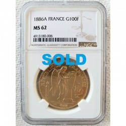 1886 A GOLD FRANCE 100...