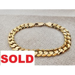 14k SOLID Yellow Gold CUBAN...
