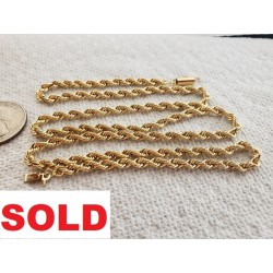 14k Solid Yellow Gold ROPE...